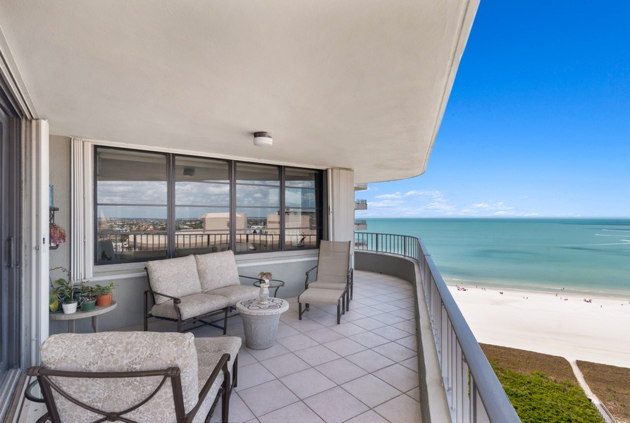 Real Estate Photography - 280 S. Collier Blvd., Summit House #1805, Marco Island, FL, 34145 - Patio