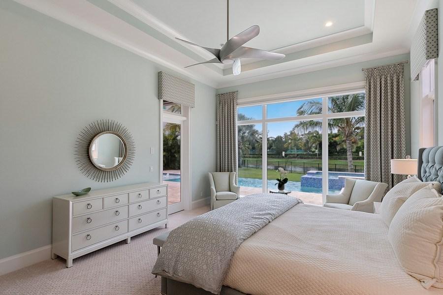Real Estate Photography - 6888 Leeward Way, Naples, FL, 34109 - Waterfront Master suite