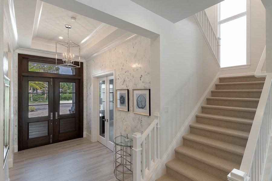Real Estate Photography - 6888 Leeward Way, Naples, FL, 34109 - Special 13 ft double entry door