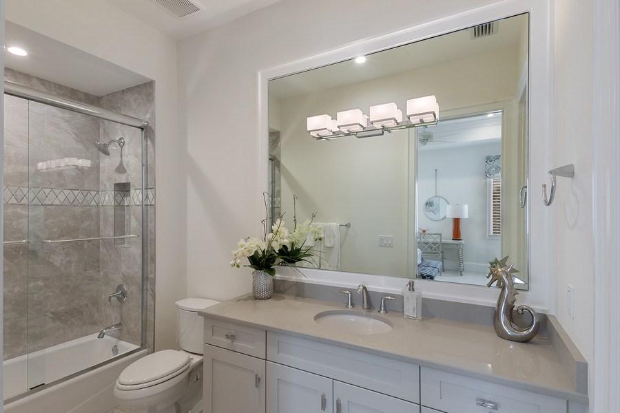 Real Estate Photography - 6888 Leeward Way, Naples, FL, 34109 - Guest Suite #3 bath