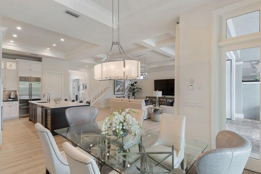Real Estate Photography - 6888 Leeward Way, Naples, FL, 34109 - Expansive Coastal Modern open floor plan