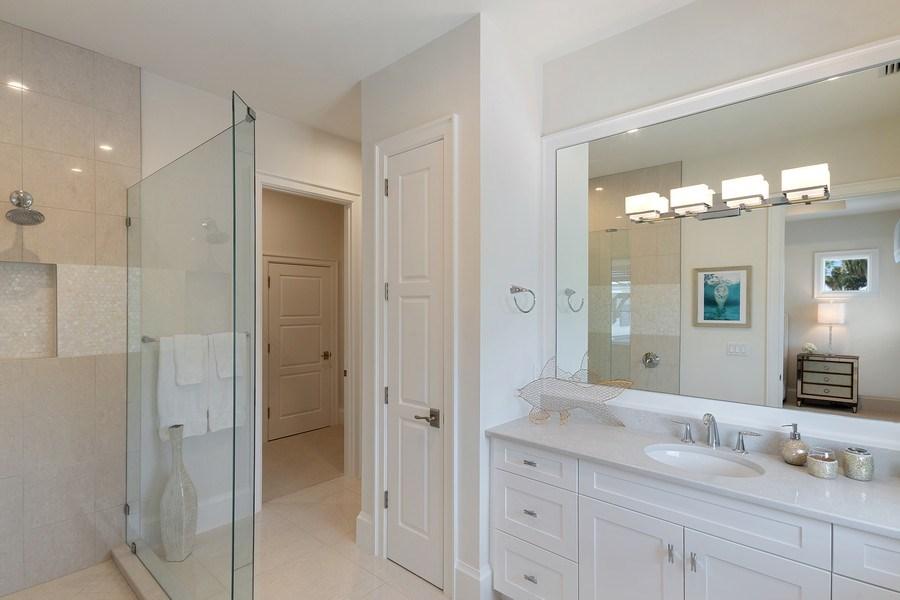 Real Estate Photography - 6888 Leeward Way, Naples, FL, 34109 - Guest Suite #2 marble bath