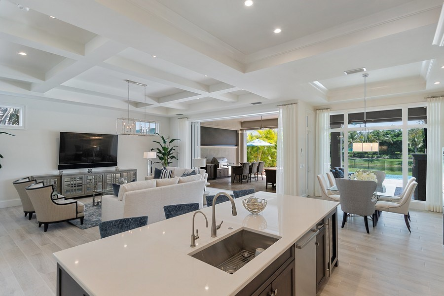 Real Estate Photography - 6888 Leeward Way, Naples, FL, 34109 - Look at all this spectacular open floor plan