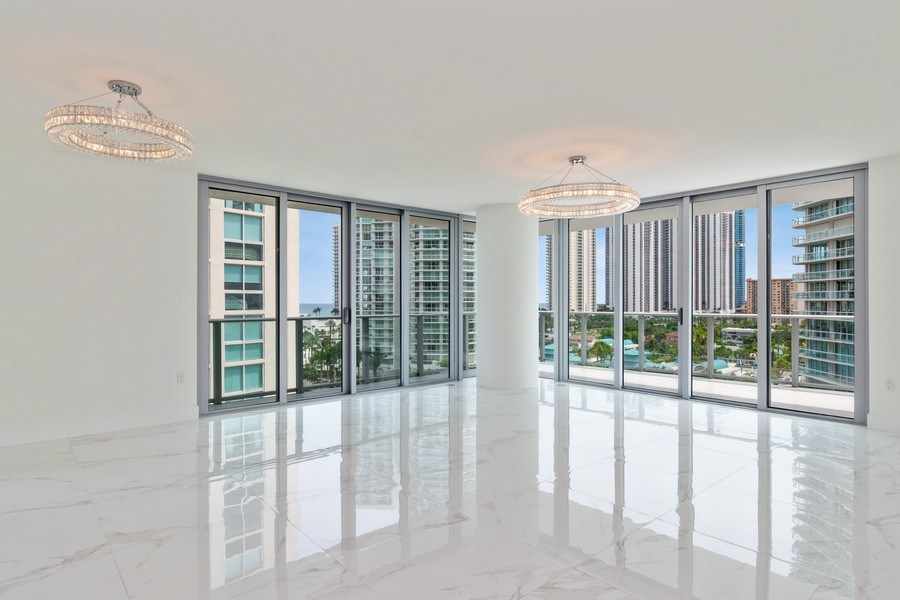 Real Estate Photography - 300 Sunny Isles Blvd., 802, Sunny Isles Beach, FL, 33160 - Living Room