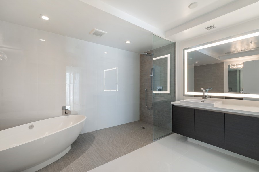 Real Estate Photography - 300 Sunny Isles Blvd., 802, Sunny Isles Beach, FL, 33160 - Master Bathroom