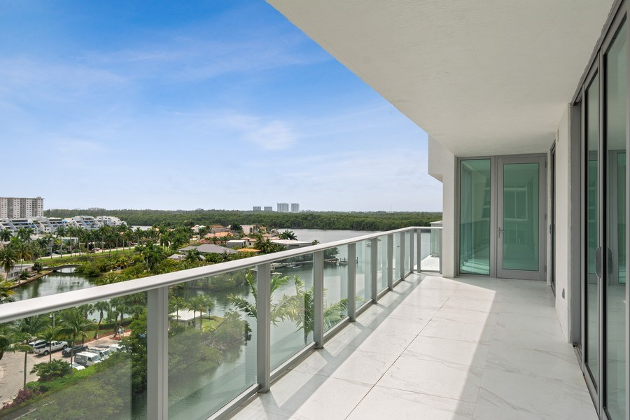 Real Estate Photography - 300 Sunny Isles Blvd., 802, Sunny Isles Beach, FL, 33160 - Balcony