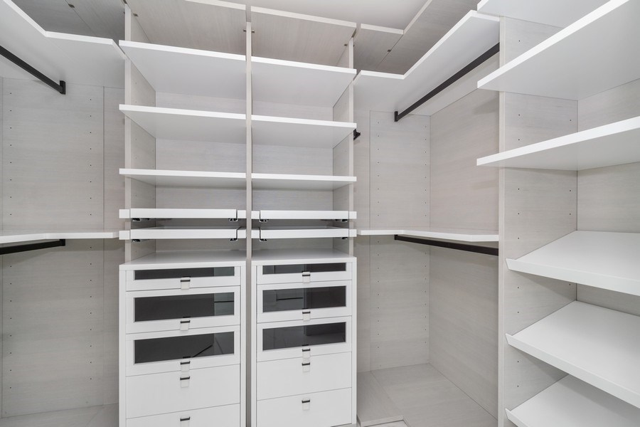 Real Estate Photography - 300 Sunny Isles Blvd., 802, Sunny Isles Beach, FL, 33160 - Master Bedroom Closet