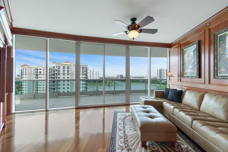 Real Estate Photography - 20155 NE 38th Court, #1401, Aventura, FL, 33180 - Family Room