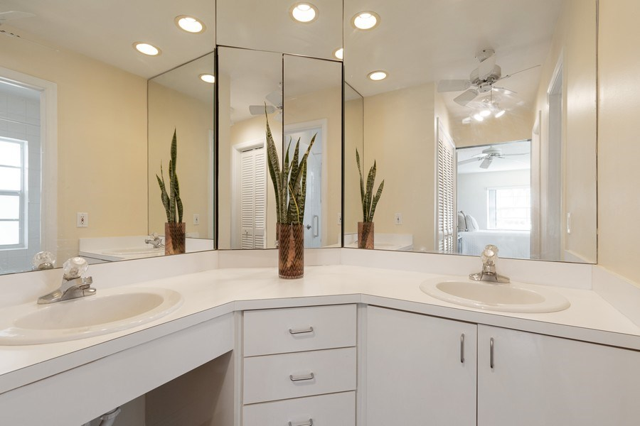 Real Estate Photography - 6315 Bay Club Drive, Unit #2, Bldg. #8, Fort Lauderdale, FL, 33308 - Master Bathroom