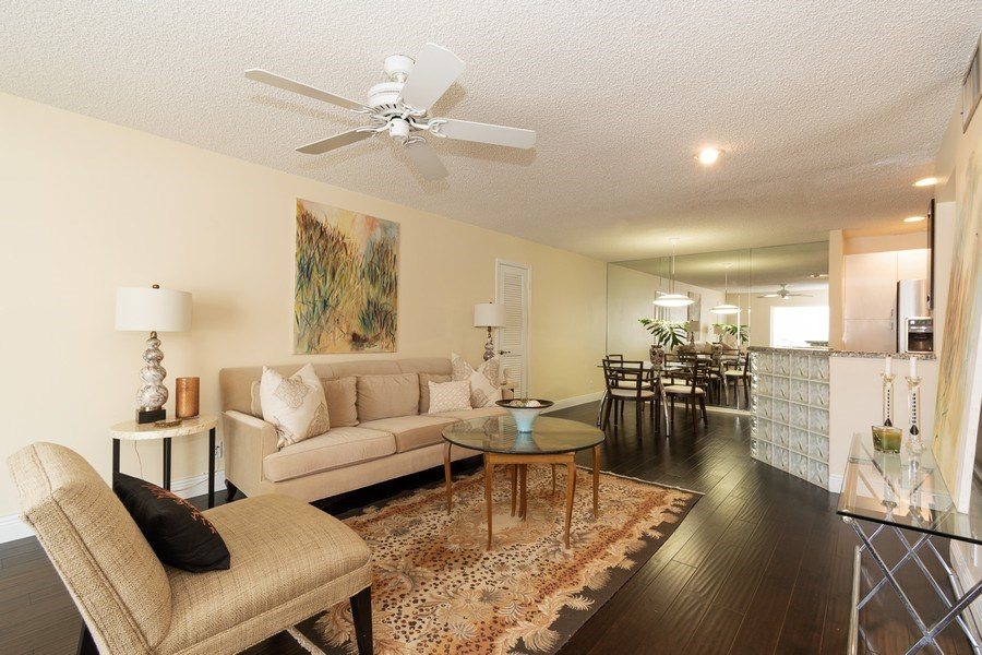 Real Estate Photography - 6315 Bay Club Drive, Unit #2, Bldg. #8, Fort Lauderdale, FL, 33308 - Living Room