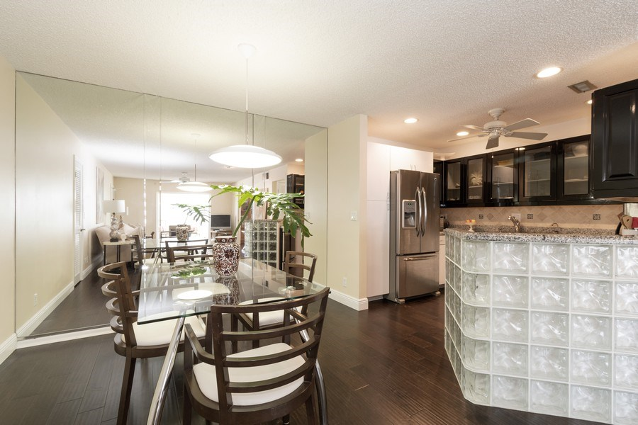 Real Estate Photography - 6315 Bay Club Drive, Unit #2, Bldg. #8, Fort Lauderdale, FL, 33308 - Dining Room