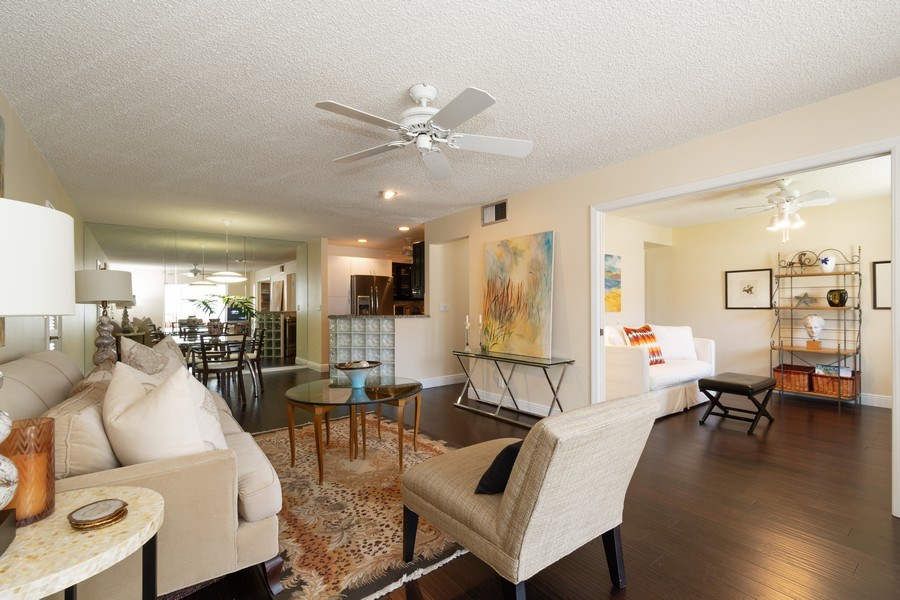 Real Estate Photography - 6315 Bay Club Drive, Unit #2, Bldg. #8, Fort Lauderdale, FL, 33308 - Living Room / Dining Room