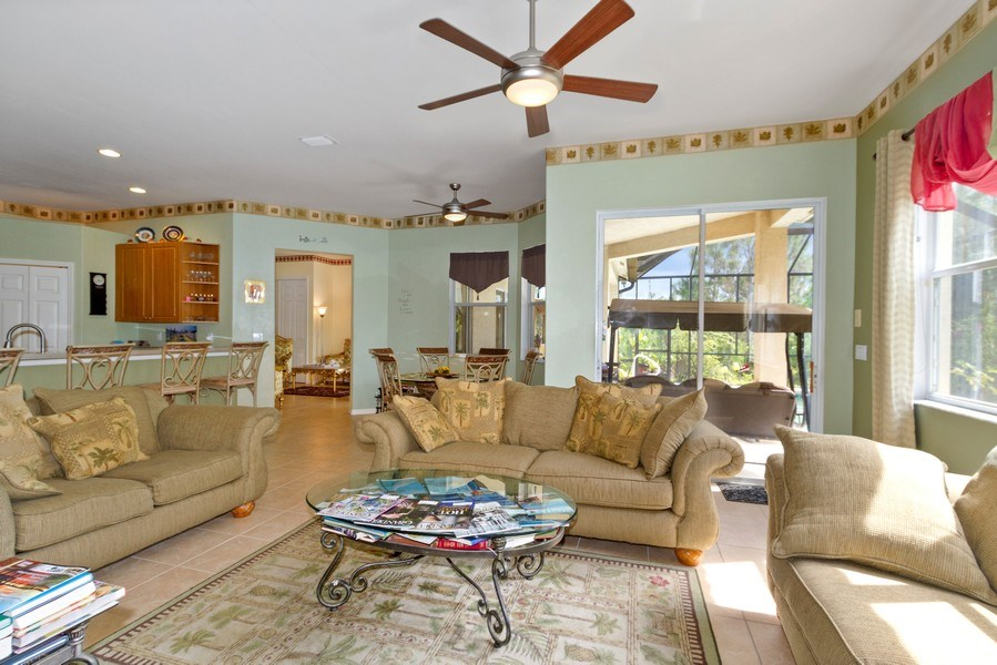 Real Estate Photography - 3775 Everglades Blvd N, Naples, FL, 34120 - Family Room