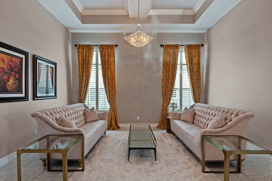 Real Estate Photography - 7329 Lantana Way, Naples, FL, 34119 - Living Room