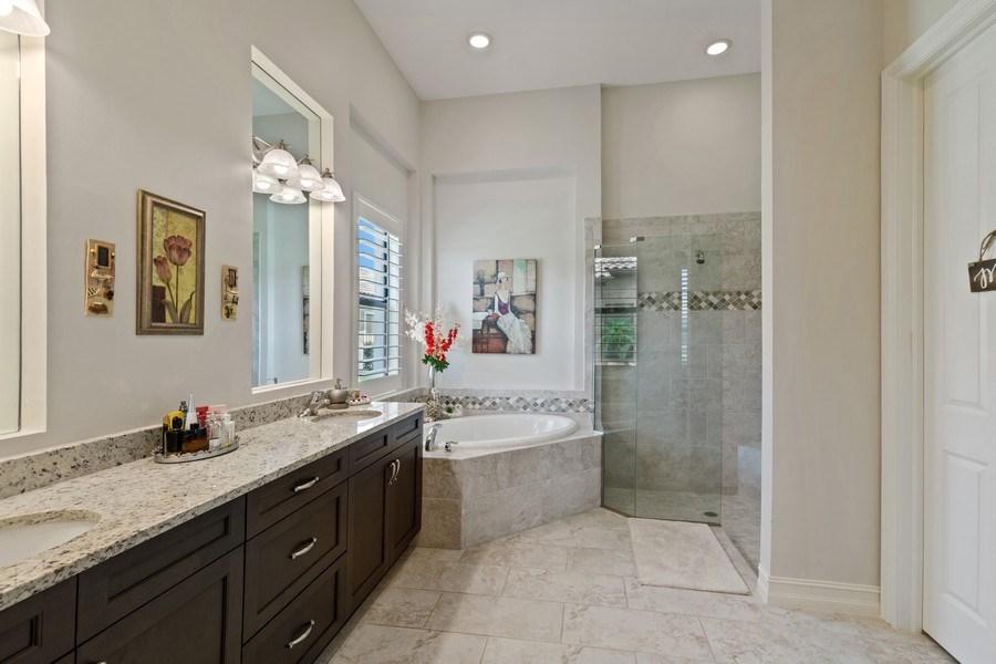 Real Estate Photography - 7329 Lantana Way, Naples, FL, 34119 - Master Bathroom