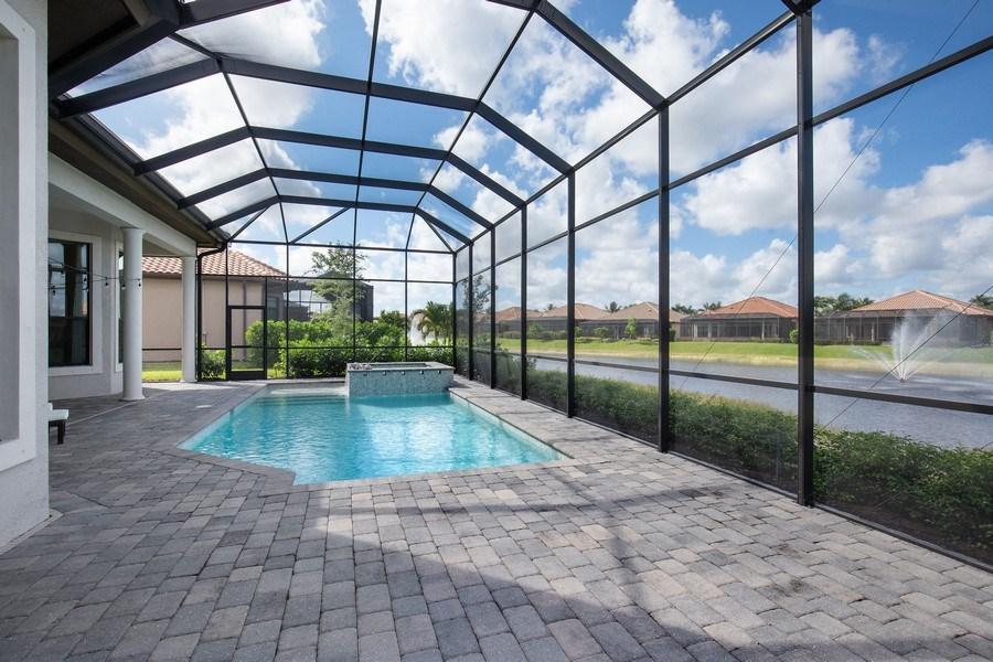 Real Estate Photography - 7329 Lantana Way, Naples, FL, 34119 - Pool