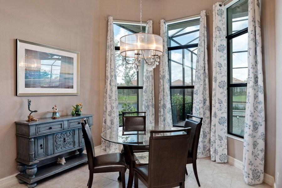 Real Estate Photography - 7329 Lantana Way, Naples, FL, 34119 - Breakfast Area