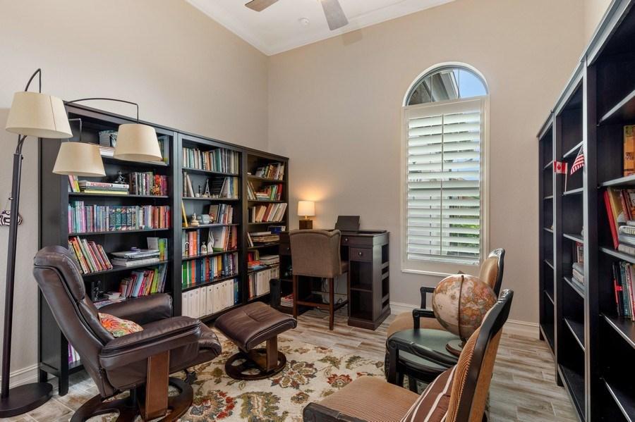 Real Estate Photography - 7329 Lantana Way, Naples, FL, 34119 - Den
