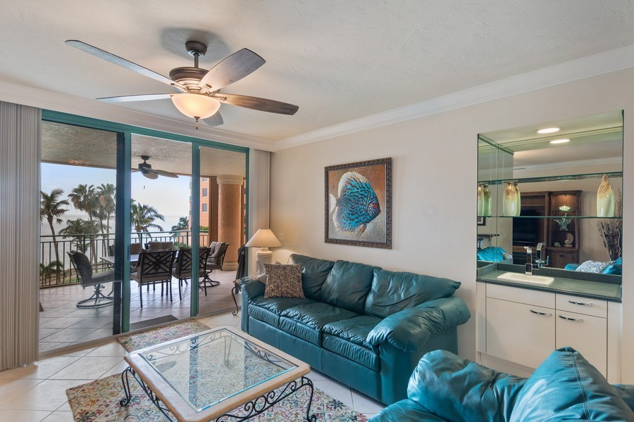 Real Estate Photography - 980 Cape Marco Dr, 407, Marco Island, FL, 34145 - Living Room