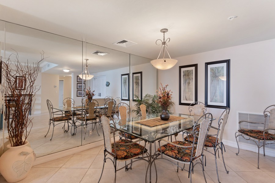 Real Estate Photography - 980 Cape Marco Dr, 407, Marco Island, FL, 34145 - Dining Area