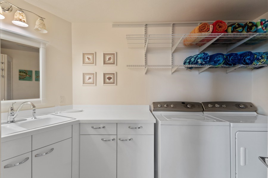 Real Estate Photography - 980 Cape Marco Dr, 407, Marco Island, FL, 34145 - Laundry Room