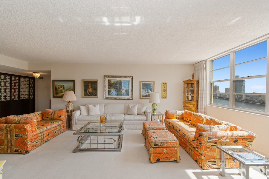 Real Estate Photography - 301 174th St., #1412, Sunny Isles Beach, FL, 33160 - Living Room