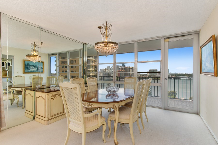 Real Estate Photography - 301 174th St., #1412, Sunny Isles Beach, FL, 33160 - Dining Room