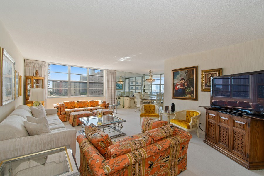 Real Estate Photography - 301 174th St., #1412, Sunny Isles Beach, FL, 33160 - Living Room / Dining Room