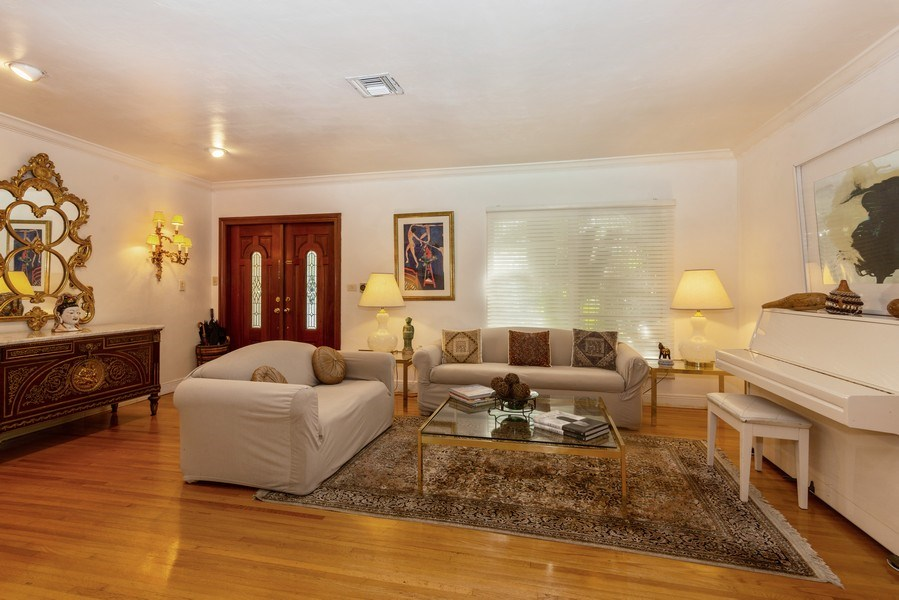Real Estate Photography - 3920 Monserrate Street, Coral Gables, FL, 33134 - Living Room