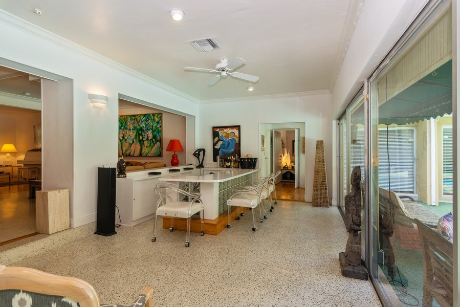 Real Estate Photography - 3920 Monserrate Street, Coral Gables, FL, 33134 - Living Rm/Family Rm