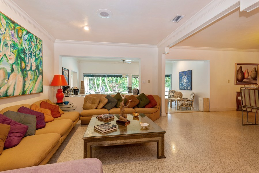 Real Estate Photography - 3920 Monserrate Street, Coral Gables, FL, 33134 - Living Room / Dining Room