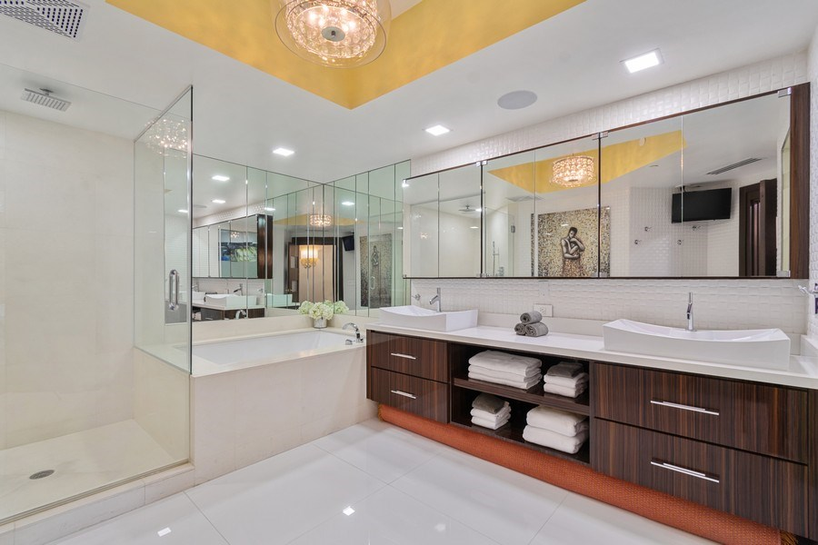 Real Estate Photography - 2711 S. Ocean Drive #1902, Hollywood, FL, 33019 - Master Bathroom