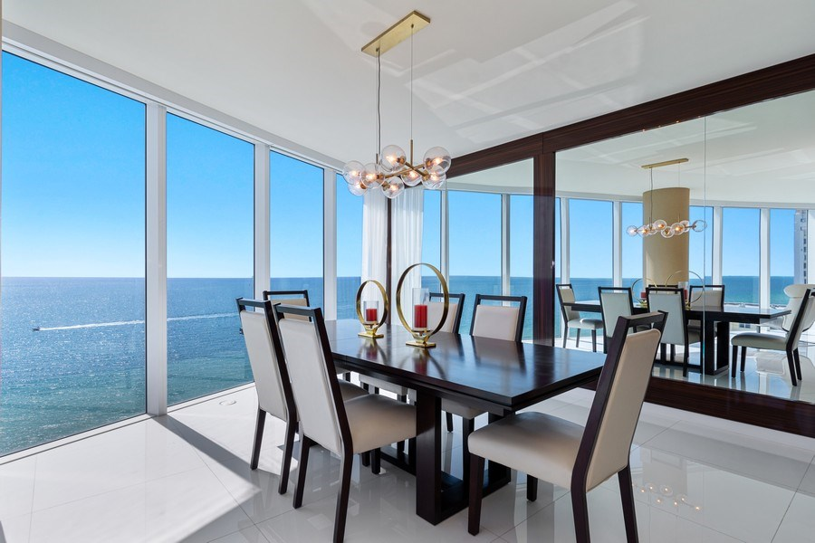 Real Estate Photography - 2711 S. Ocean Drive #1902, Hollywood, FL, 33019 - Dining Room