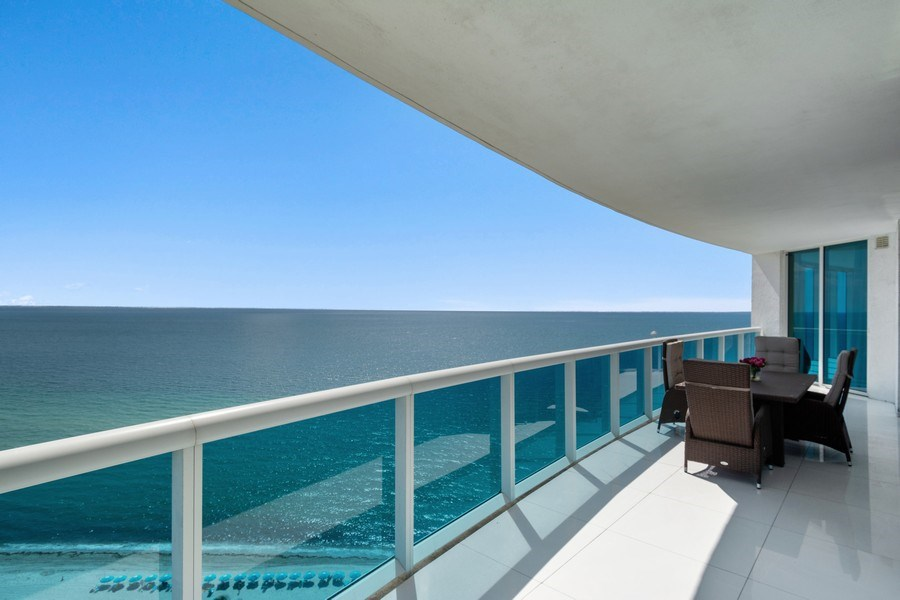 Real Estate Photography - 2711 S. Ocean Drive #1902, Hollywood, FL, 33019 - Balcony
