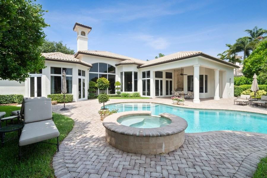 Real Estate Photography - 7402 Sedona Way, Delray Beach, FL, 33446 - Rear View