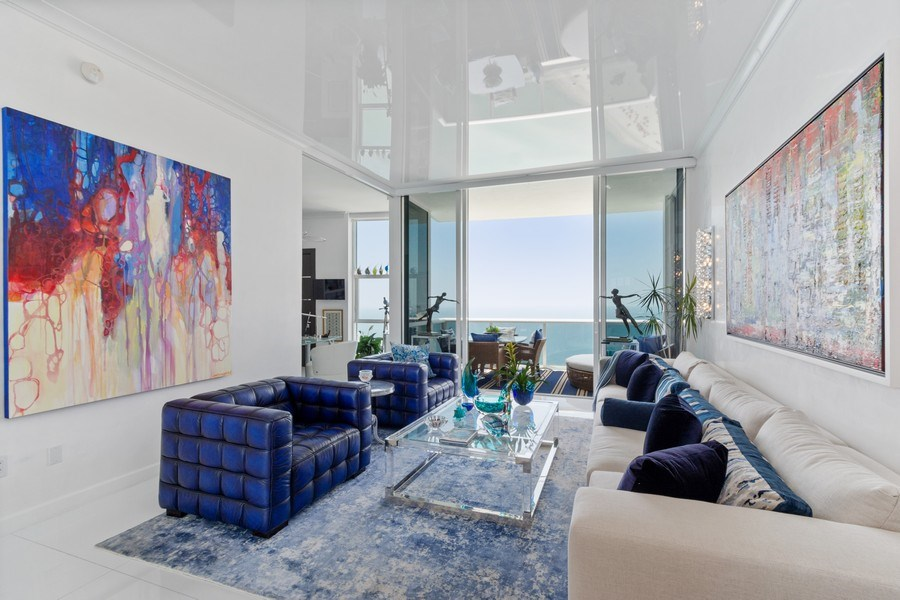 Real Estate Photography - 18101 Collins Ave. #PH5404, Sunny Isles Beach, FL, 33160 - Living Room