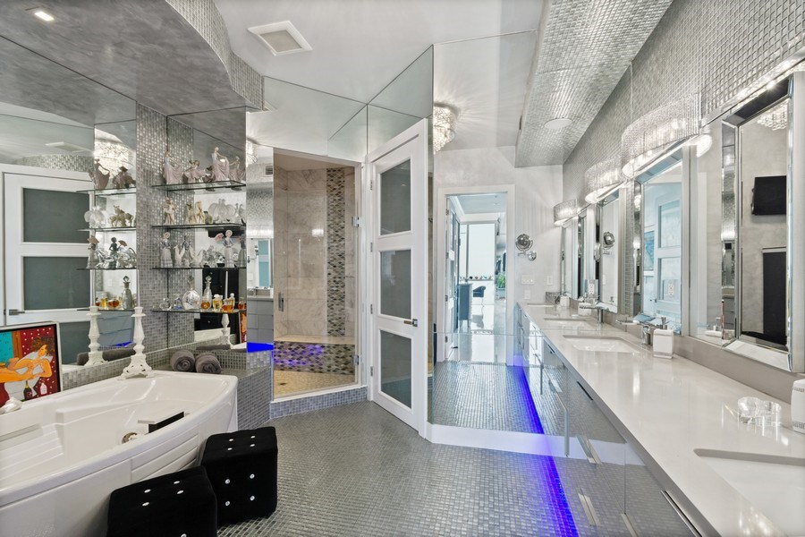 Real Estate Photography - 18101 Collins Ave. #PH5404, Sunny Isles Beach, FL, 33160 - Master Bathroom