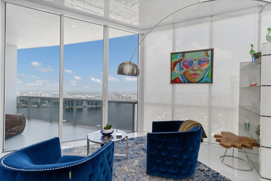 Real Estate Photography - 18101 Collins Ave. #PH5404, Sunny Isles Beach, FL, 33160 - Family Room