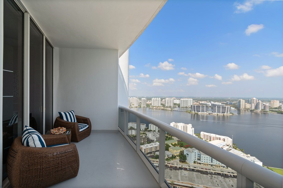 Real Estate Photography - 18101 Collins Ave. #PH5404, Sunny Isles Beach, FL, 33160 - Balcony