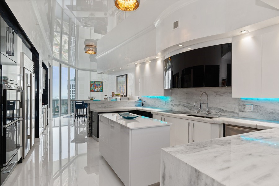Real Estate Photography - 18101 Collins Ave. #PH5404, Sunny Isles Beach, FL, 33160 - Kitchen