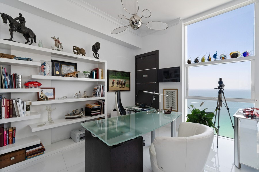 Real Estate Photography - 18101 Collins Ave. #PH5404, Sunny Isles Beach, FL, 33160 - Office