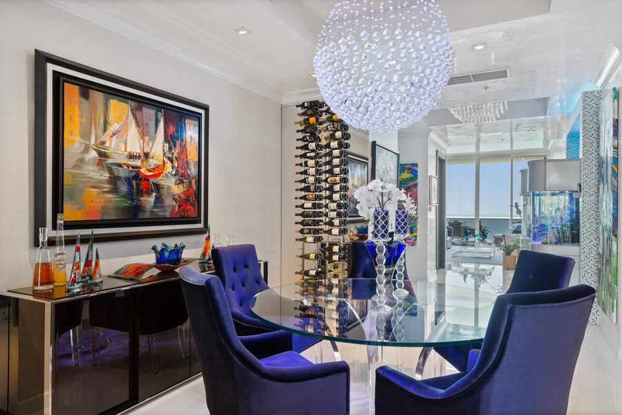 Real Estate Photography - 18101 Collins Ave. #PH5404, Sunny Isles Beach, FL, 33160 - Living Room/Dining Room