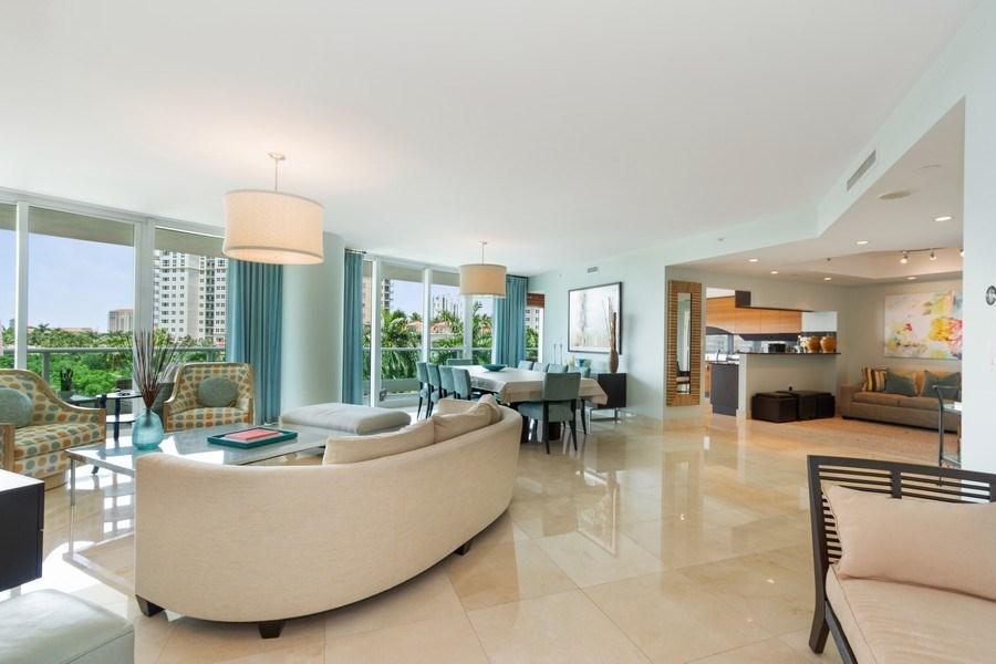 Real Estate Photography - 19955 NE 38th Ct. #601, Aventura, FL, 33180 - Living Room