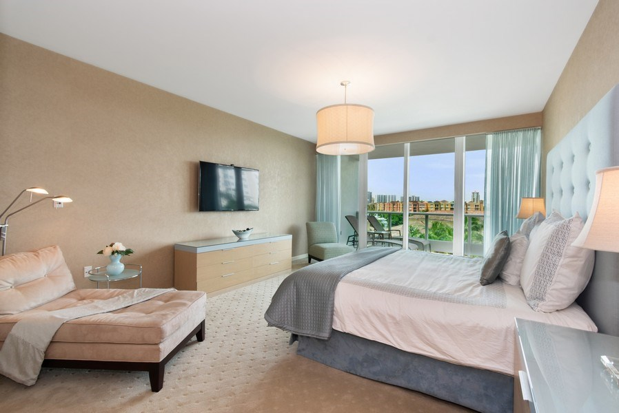 Real Estate Photography - 19955 NE 38th Ct. #601, Aventura, FL, 33180 - Master Bedroom