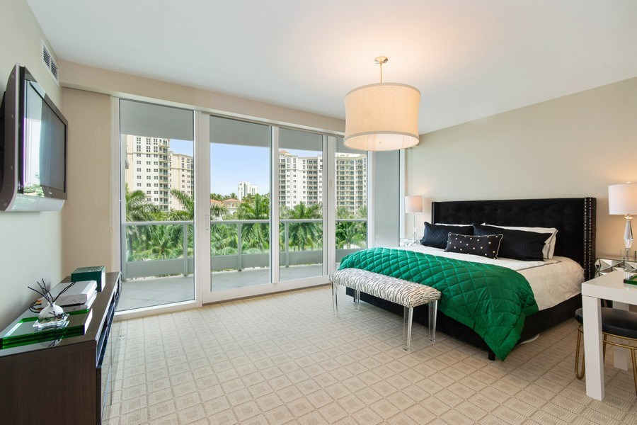 Real Estate Photography - 19955 NE 38th Ct. #601, Aventura, FL, 33180 - Bedroom