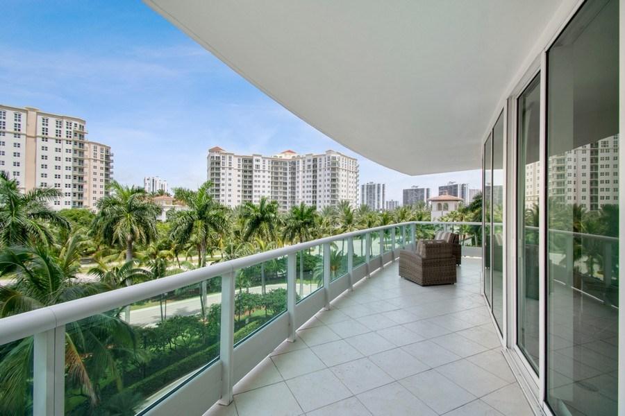 Real Estate Photography - 19955 NE 38th Ct. #601, Aventura, FL, 33180 - Balcony