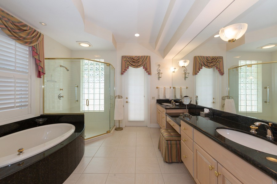 Real Estate Photography - 409 Rosemeade Lane, Naples, FL, 34105 - Master Bathroom