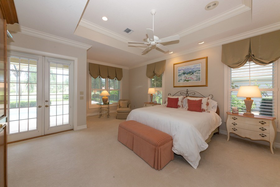 Real Estate Photography - 409 Rosemeade Lane, Naples, FL, 34105 - Master Bedroom
