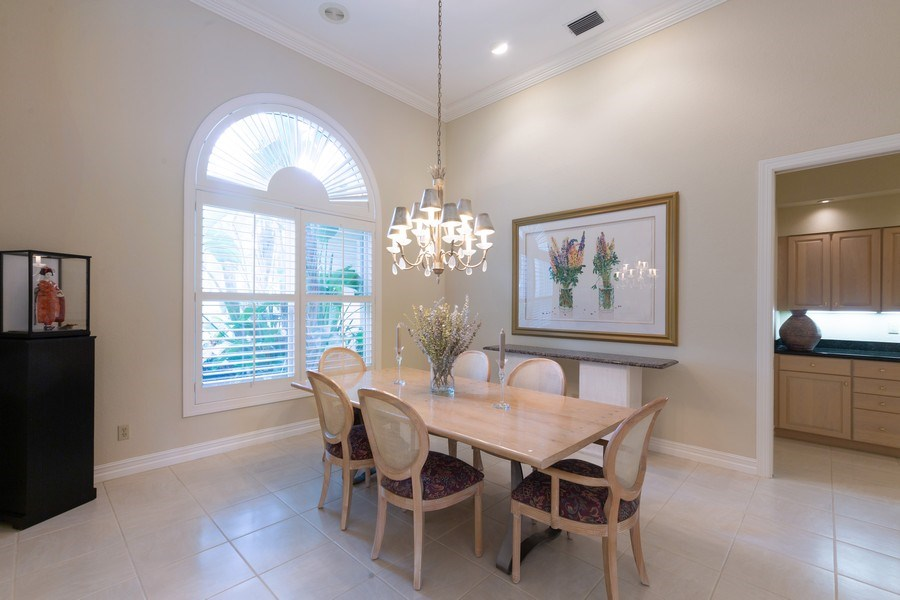 Real Estate Photography - 409 Rosemeade Lane, Naples, FL, 34105 - Dining Room