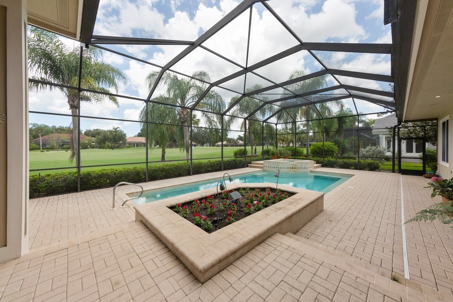 Real Estate Photography - 409 Rosemeade Lane, Naples, FL, 34105 - Pool